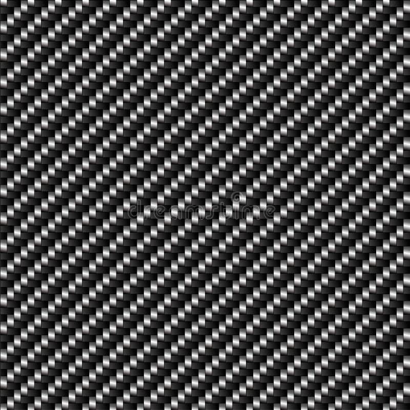 Vecteur sans joint de fond de fibre de carbone illustration de vecteur
