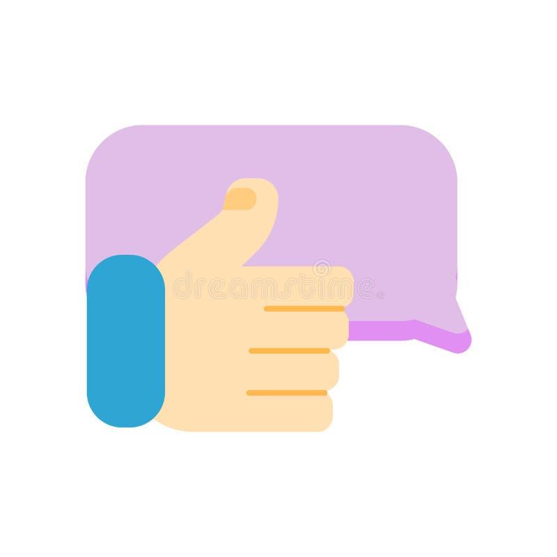 Vecteur satisfait d'icône d'isolement sur le fond blanc, signe satisfaisant, symboles de question illustration de vecteur