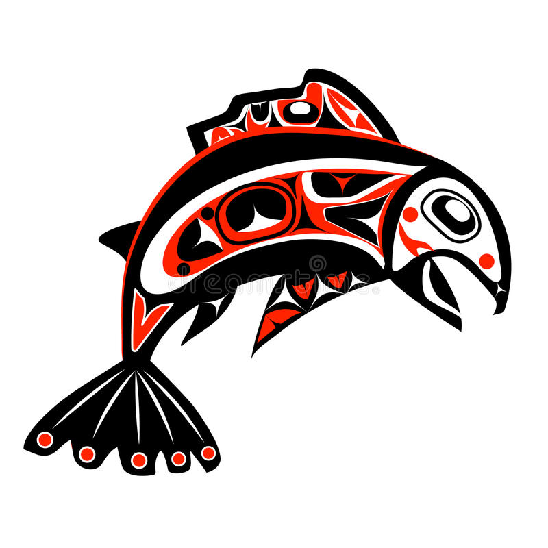 Vecteur saumoné indigène illustration libre de droits