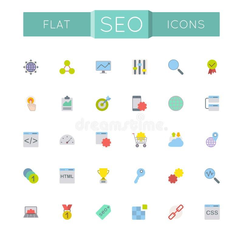 Vecteur SEO Icons plat illustration de vecteur
