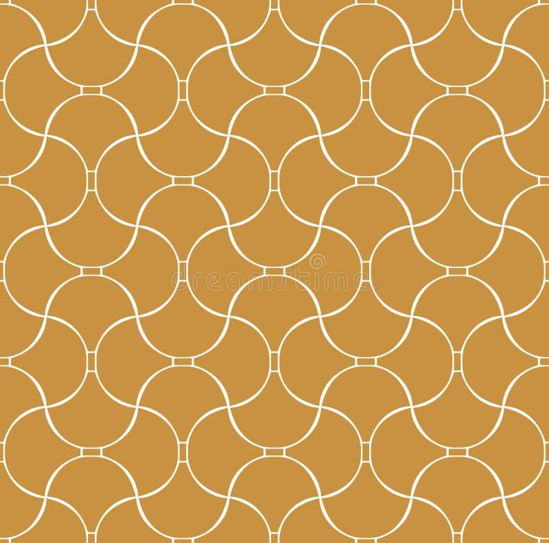 Vecteur Shell Art Deco Seamless Pattern Fond abstrait géométrique illustration de vecteur