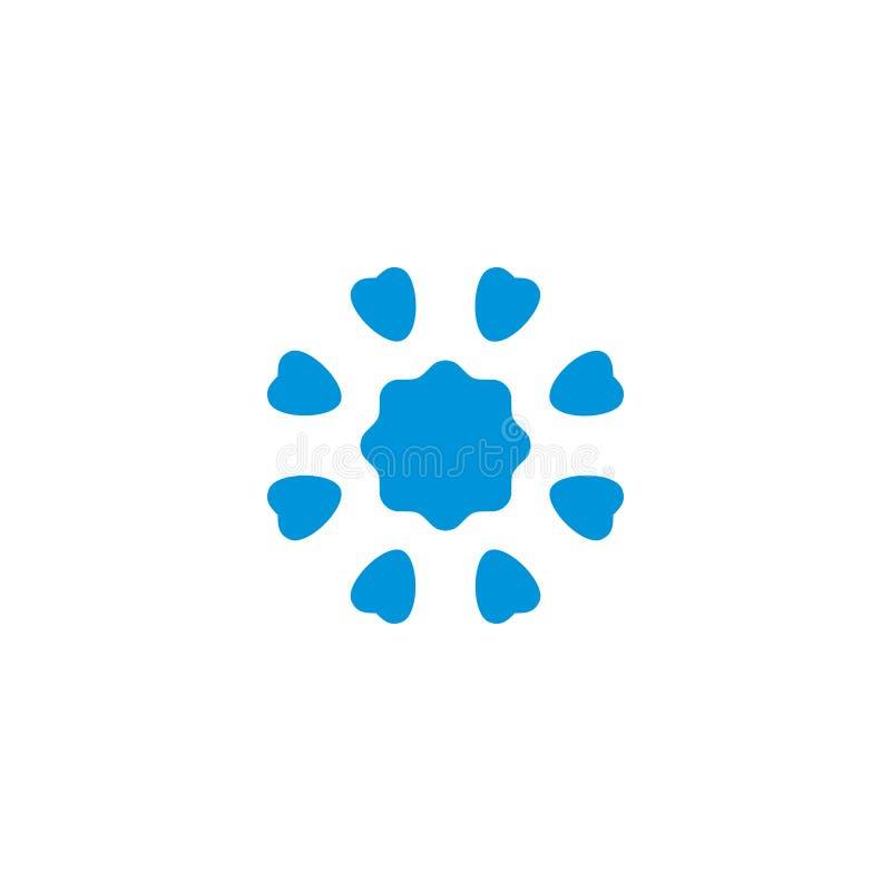 Vecteur simple abstrait de logo de timbre de fleur illustration libre de droits