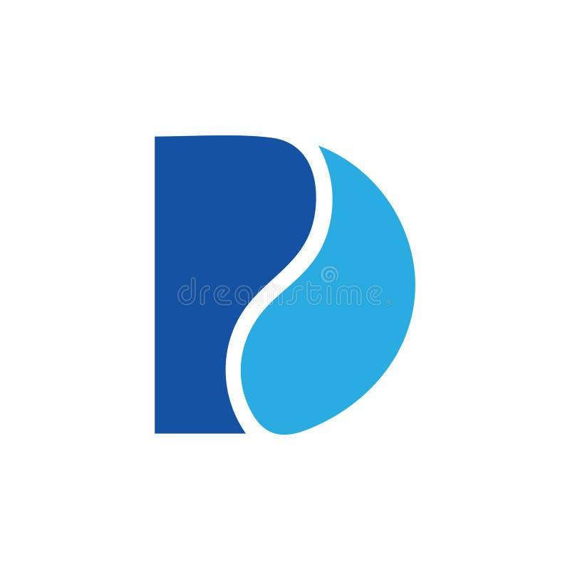 Vecteur simple de logo de courbes de la lettre d illustration stock