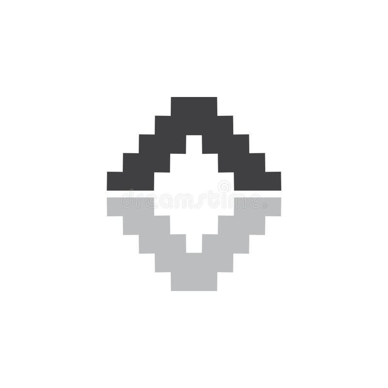 Vecteur simple de logo d'échelle de triangle illustration de vecteur