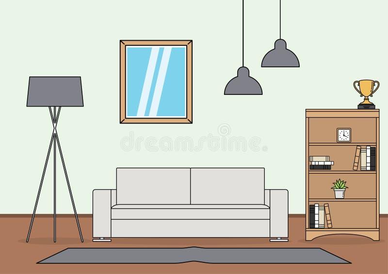 Vecteur simple de salon illustration stock