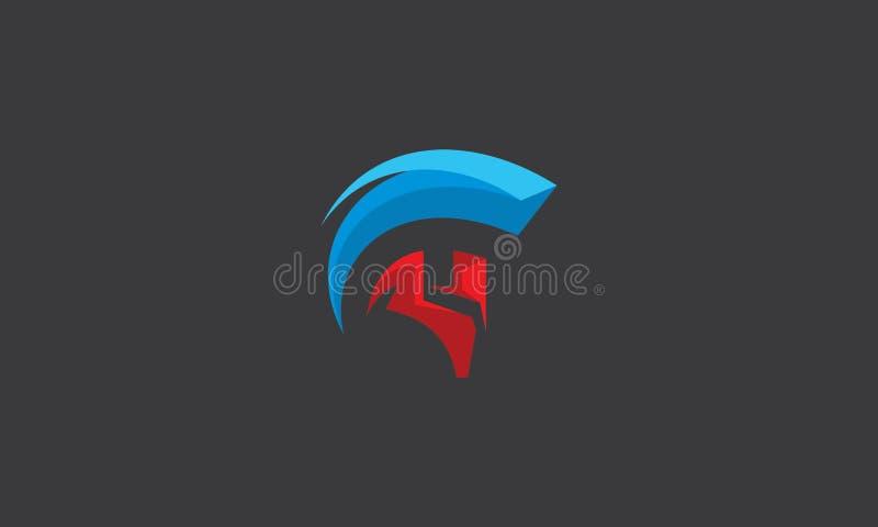 Vecteur spartiate d'icône de logo illustration libre de droits