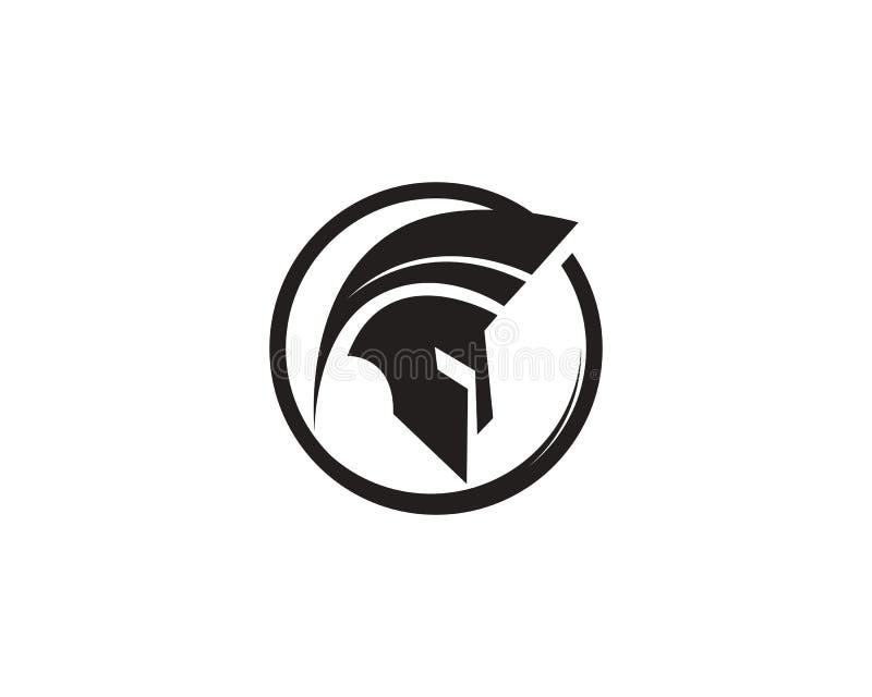 Vecteur spartiate de logo de casque illustration stock