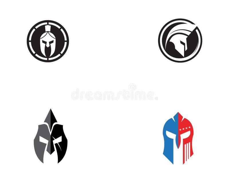 Vecteur spartiate de logo de casque illustration libre de droits
