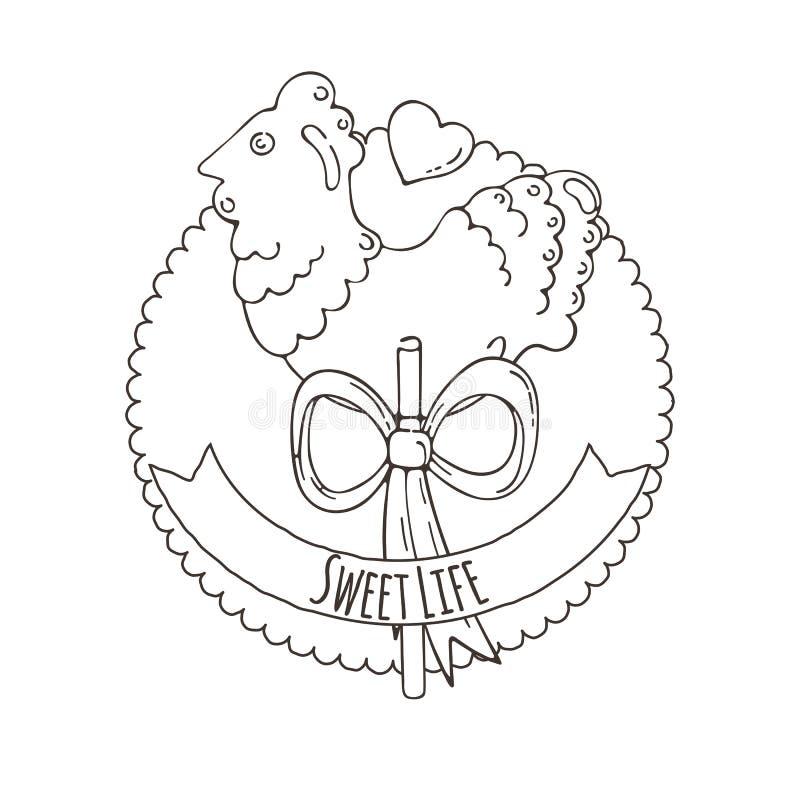 Vecteur Sugar Cockerel Background illustration libre de droits