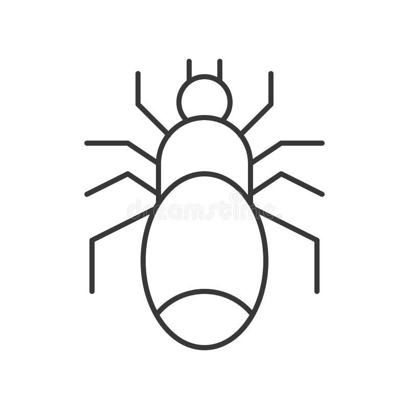 Vecteur toxique d'araignée, course editable de caractère de Halloween illustration libre de droits