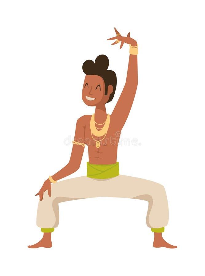 Vecteur traditionnel de culture de partie de bollywood indien de danseur illustration libre de droits