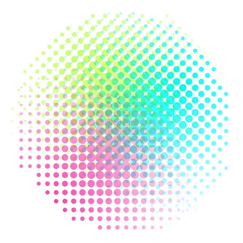 Vecteur tramé coloré de gradient de fond Backround abstrait avec les éléments tramés colorés Geomeric rétro illustration libre de droits