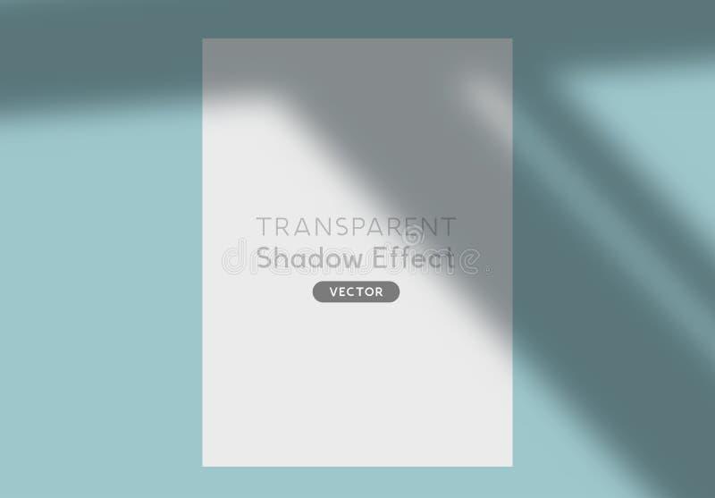 Vecteur transparent de silhouette d'ombre illustration stock