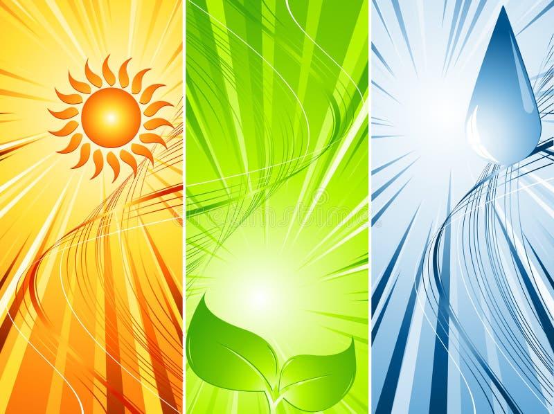vecteur trois environnemental illustration de vecteur