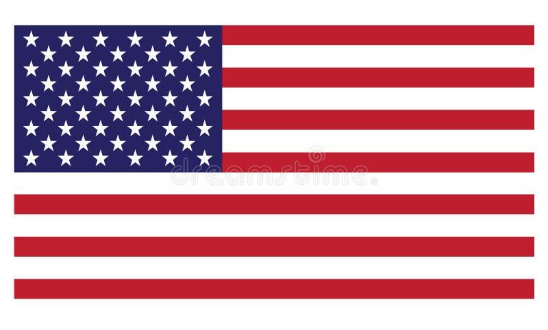 vecteur uni procurable de pays du pavillon de l'Amérique illustration stock