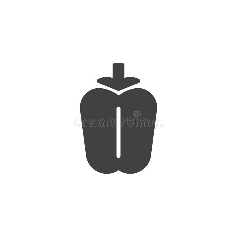 Vecteur végétal d'icône de paprika illustration stock