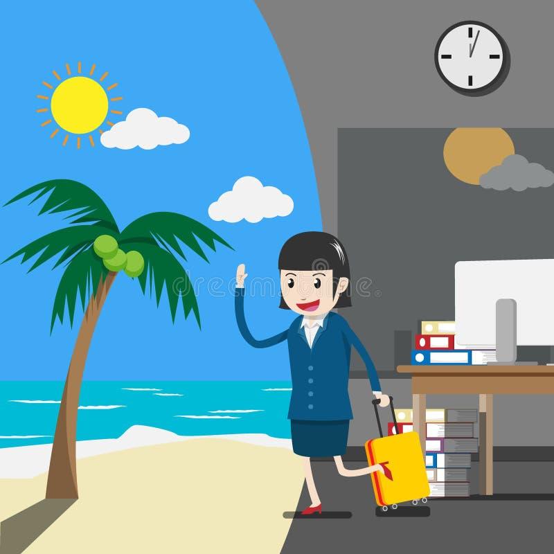 Vecteur vacances ou vacances pour des gens d'affaires de concept illustration libre de droits