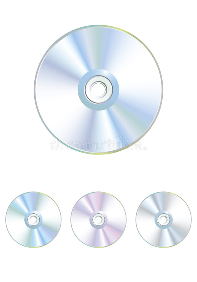 vecteur varicoloured réglé de dvd cd de disque photo stock