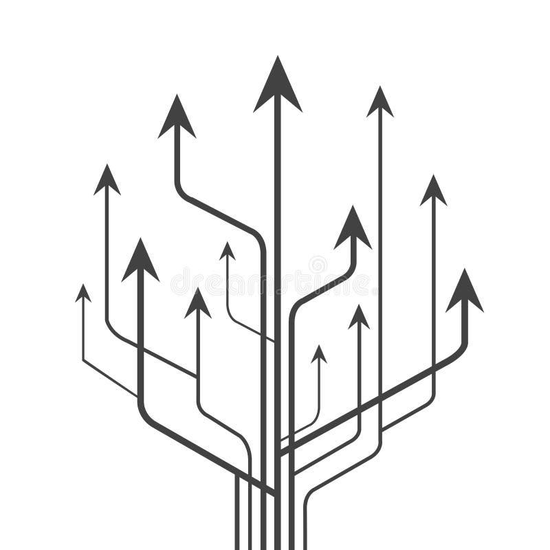 Vecteur vers le haut dirigé par flèches de groupe - illustration de vecteur