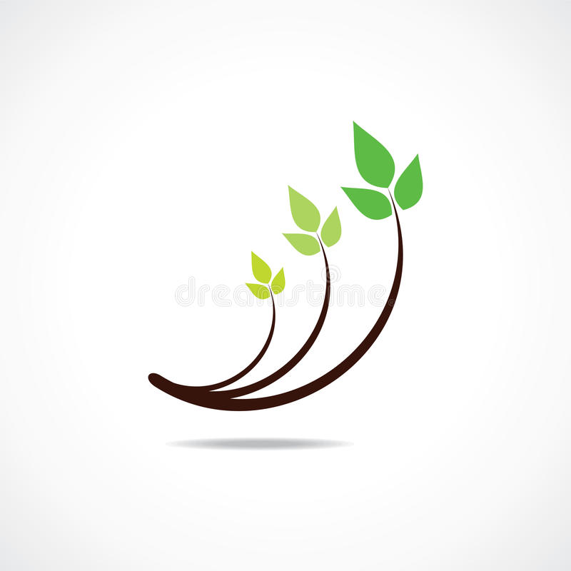 Symbole vert de conception de logo de lame illustration stock