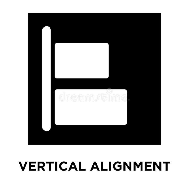 Vecteur vertical d'icône d'alignement d'isolement sur le fond blanc, rondin illustration libre de droits
