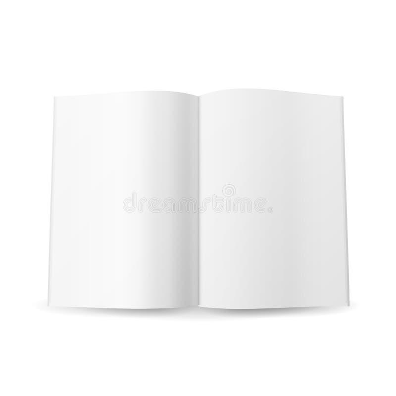 Vecteur vide écarté par magazine ouverte D'isolement sur le fond blanc illustration libre de droits