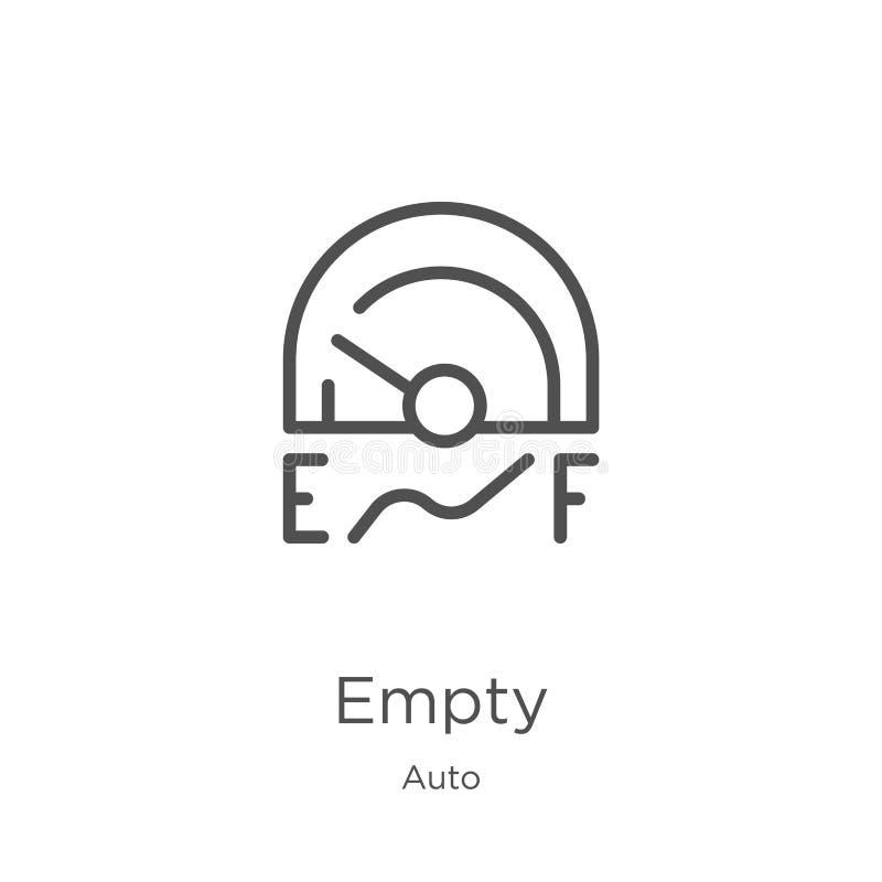 vecteur vide d'icône de la collection automatique Ligne mince illustration vide de vecteur d'icône d'ensemble Contour, ligne minc illustration de vecteur