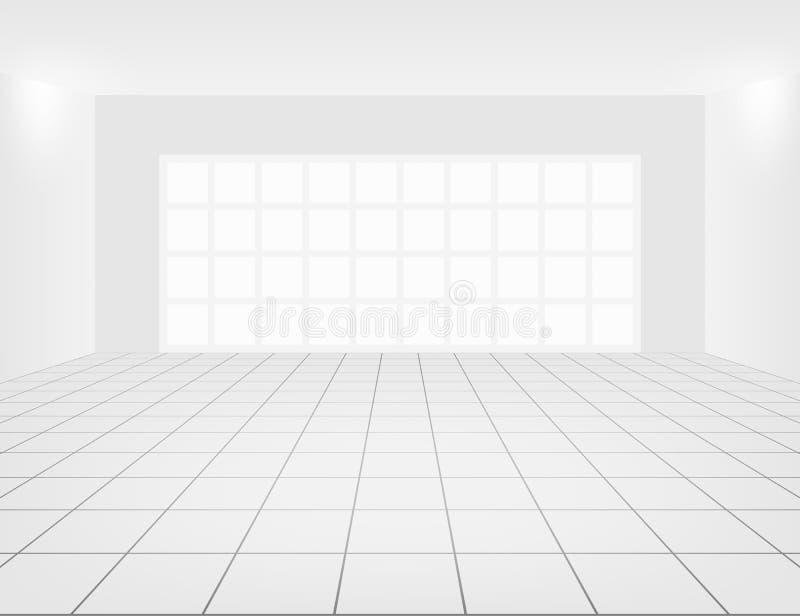 Vecteur vide de pièce illustration libre de droits
