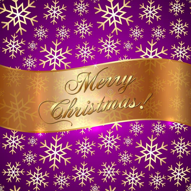 Vecteur Violet Background rose avec des flocons de neige et illustration libre de droits