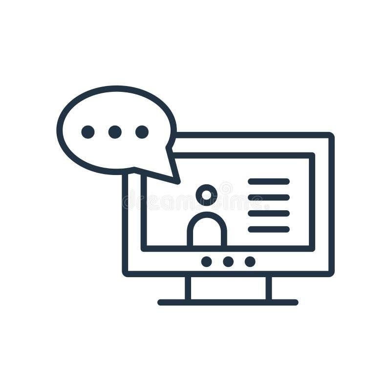Vecteur visuel d'icône d'appel d'isolement sur le fond blanc, indicatif d'appel visuel illustration stock