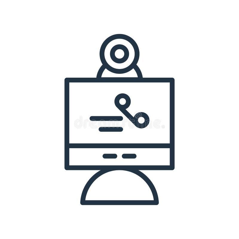 Vecteur visuel d'icône d'appel d'isolement sur le fond blanc, l'indicatif d'appel visuel, la ligne symbole ou la conception linéa illustration libre de droits