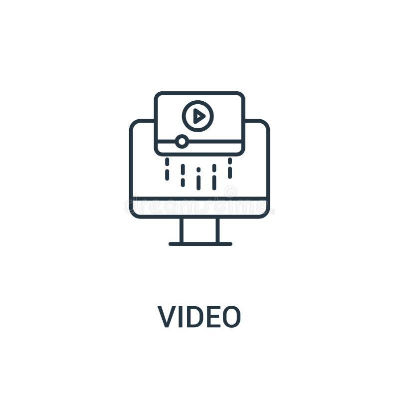 vecteur visuel d'icône de collection d'annonces Ligne mince illustration visuelle de vecteur d'icône d'ensemble Symbole linéaire  illustration libre de droits