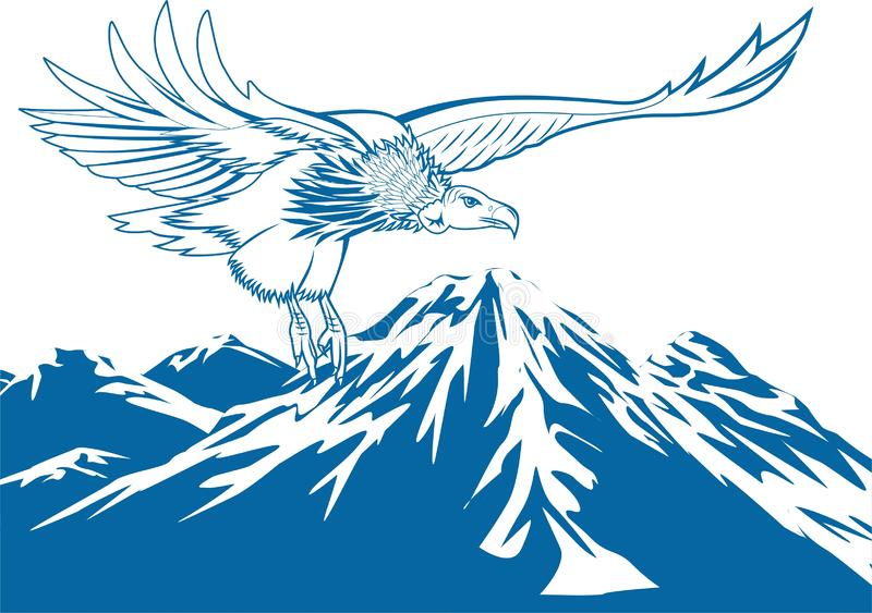 Vecteur - vol d'Eagle illustration stock