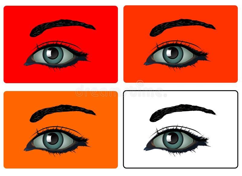 Vecteur - yeux illustration libre de droits