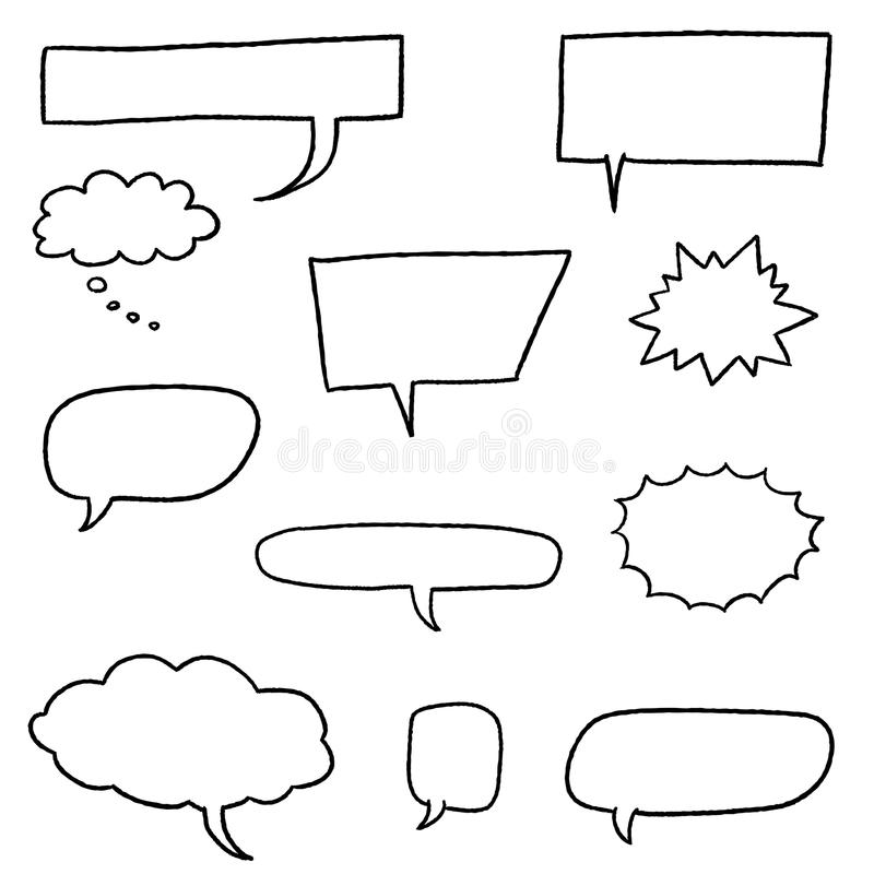 Vecteurs de bulle de la parole illustration libre de droits