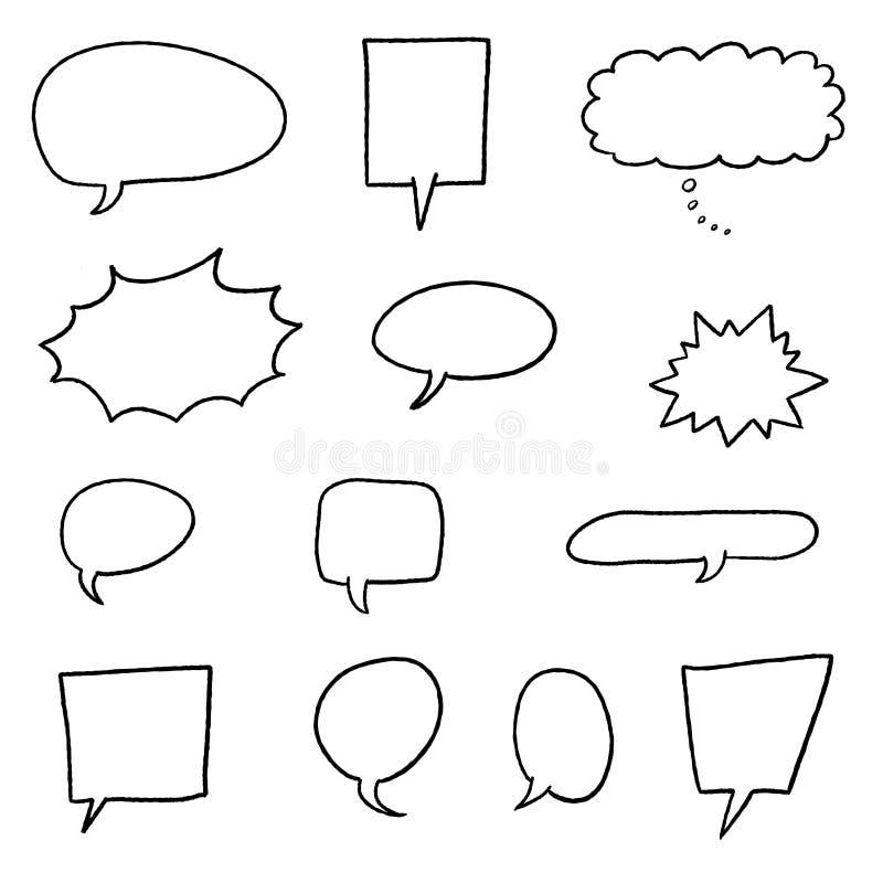 Vecteurs de bulle de la parole illustration de vecteur
