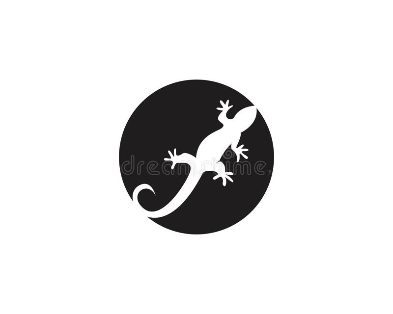 Vecteurs de symboles de calibre de logos de lézard illustration de vecteur