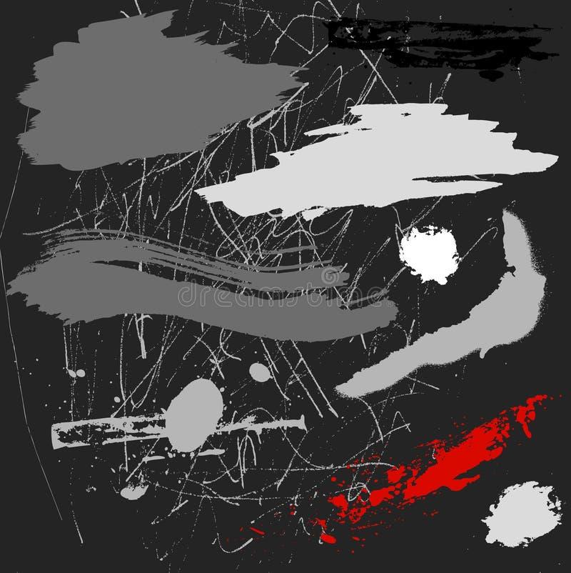 Vecteurs grunges illustration stock