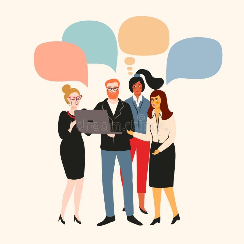 Vectior-Illustration von Büroleuten Büroangestellte, Geschäftsmänner, Manager lizenzfreie abbildung