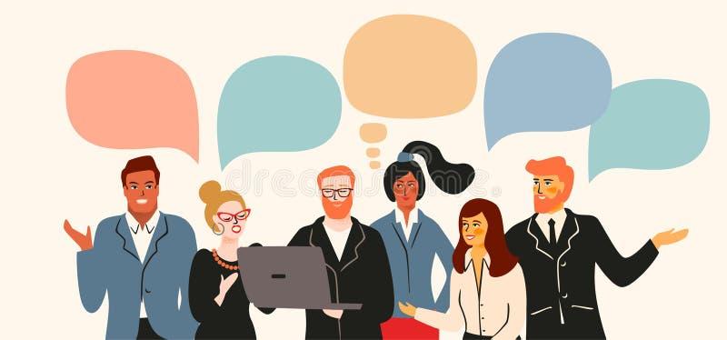 Vectior-Illustration von Büroleuten Büroangestellte, Geschäftsmänner, Manager stock abbildung