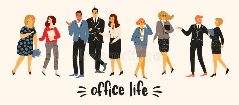 Vectior-Illustration von Büroleuten Büroangestellte, Geschäftsmänner, Manager vektor abbildung