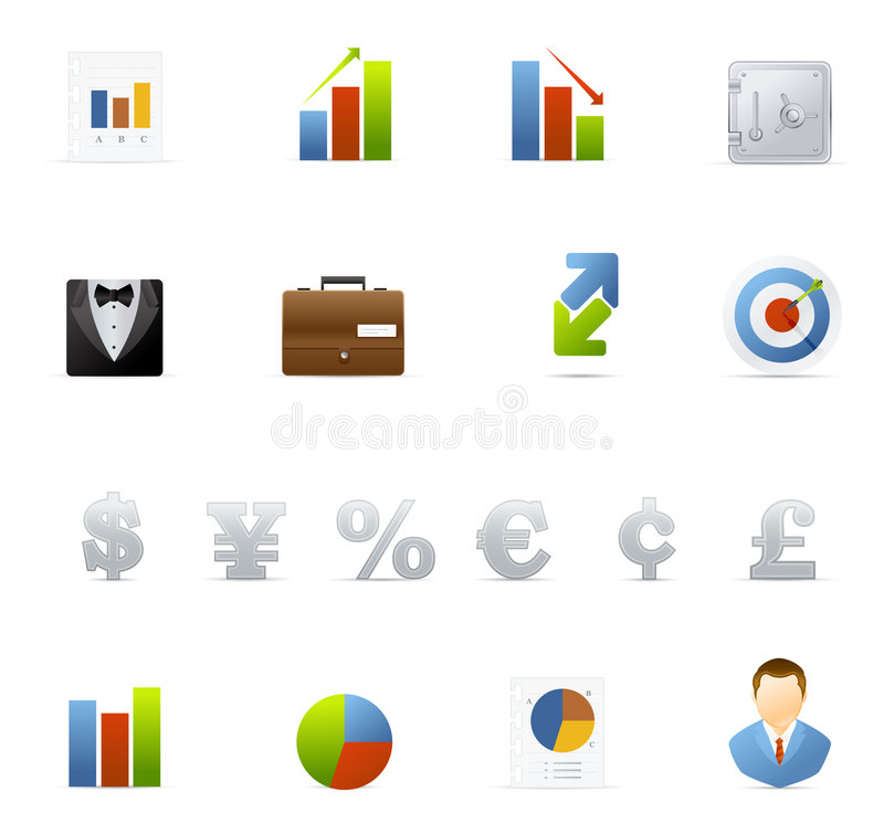 Vecto icon set - Business and Finance vector illustration