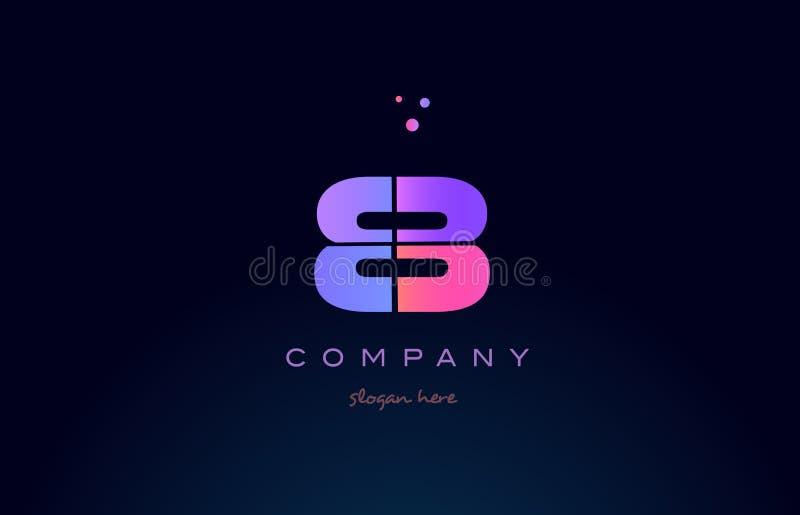vecto numeral do ícone do logotipo do dígito roxo magenta cor-de-rosa do número 8 oito ilustração stock