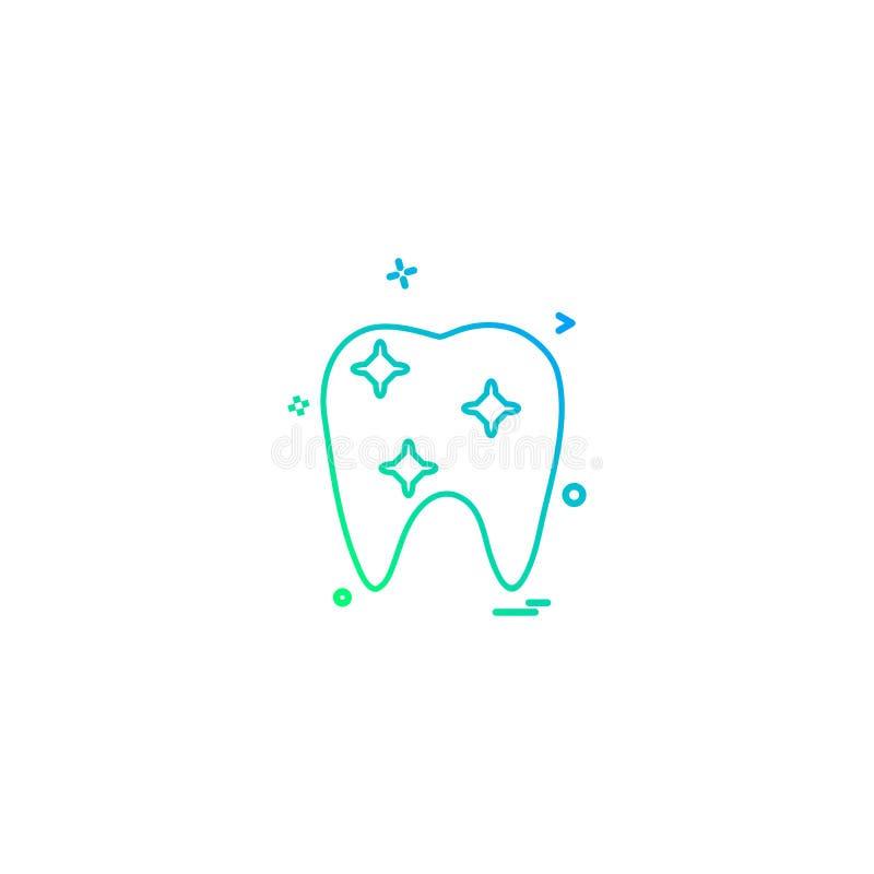 vecto ortodôntico médico do ícone do dente da ortodontia do dentista dental ilustração do vetor