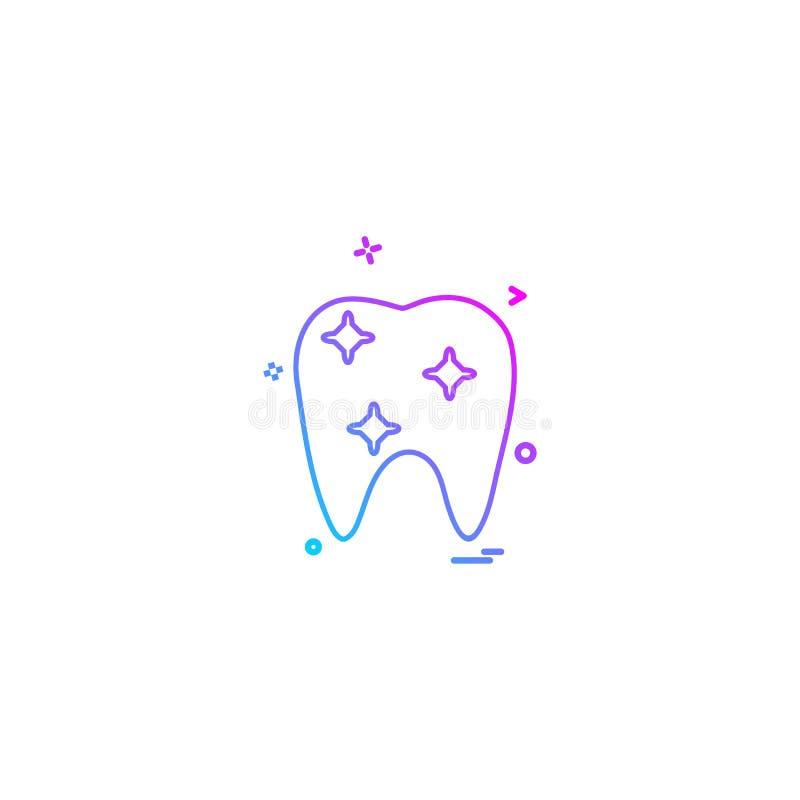 vecto ortodôntico médico do ícone do dente da ortodontia do dentista dental ilustração royalty free