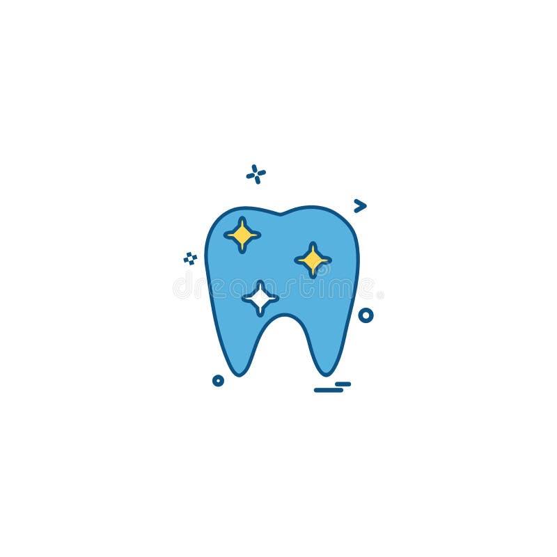 vecto ortodôntico médico do ícone do dente da ortodontia do dentista dental ilustração stock