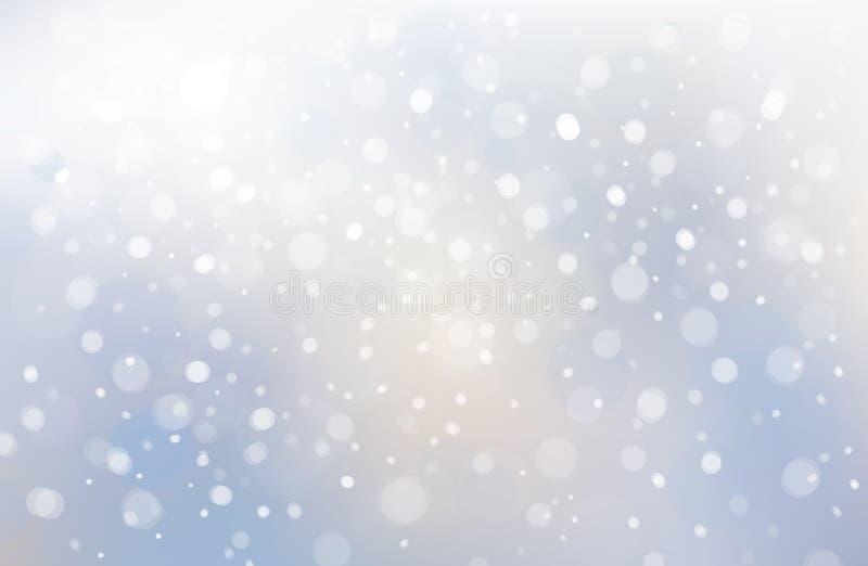 Vecto vinterplats av snöfallbakgrund stock illustrationer