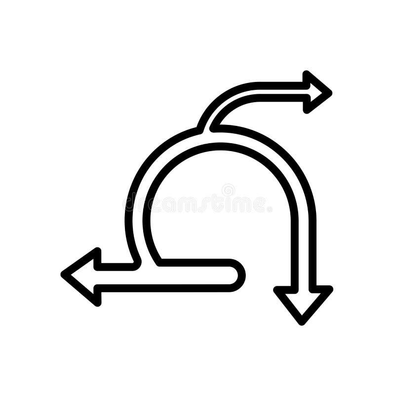 vector ágil del icono aislado en el fondo blanco ilustración del vector