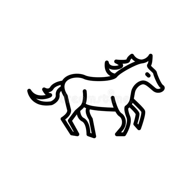Vector árabe del icono del caballo aislado en el fondo blanco, muestra árabe del caballo libre illustration