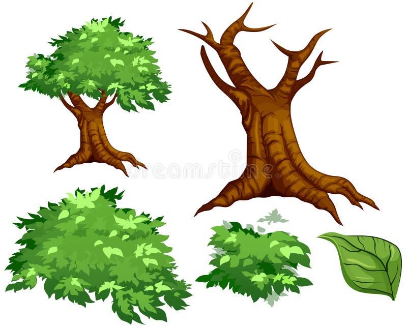 Vector a árvore ilustração royalty free